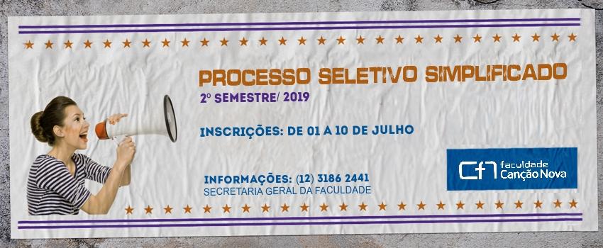 Faculdade Canção Nova realizará Processo Seletivo – Seleção Simplificada 2019.2